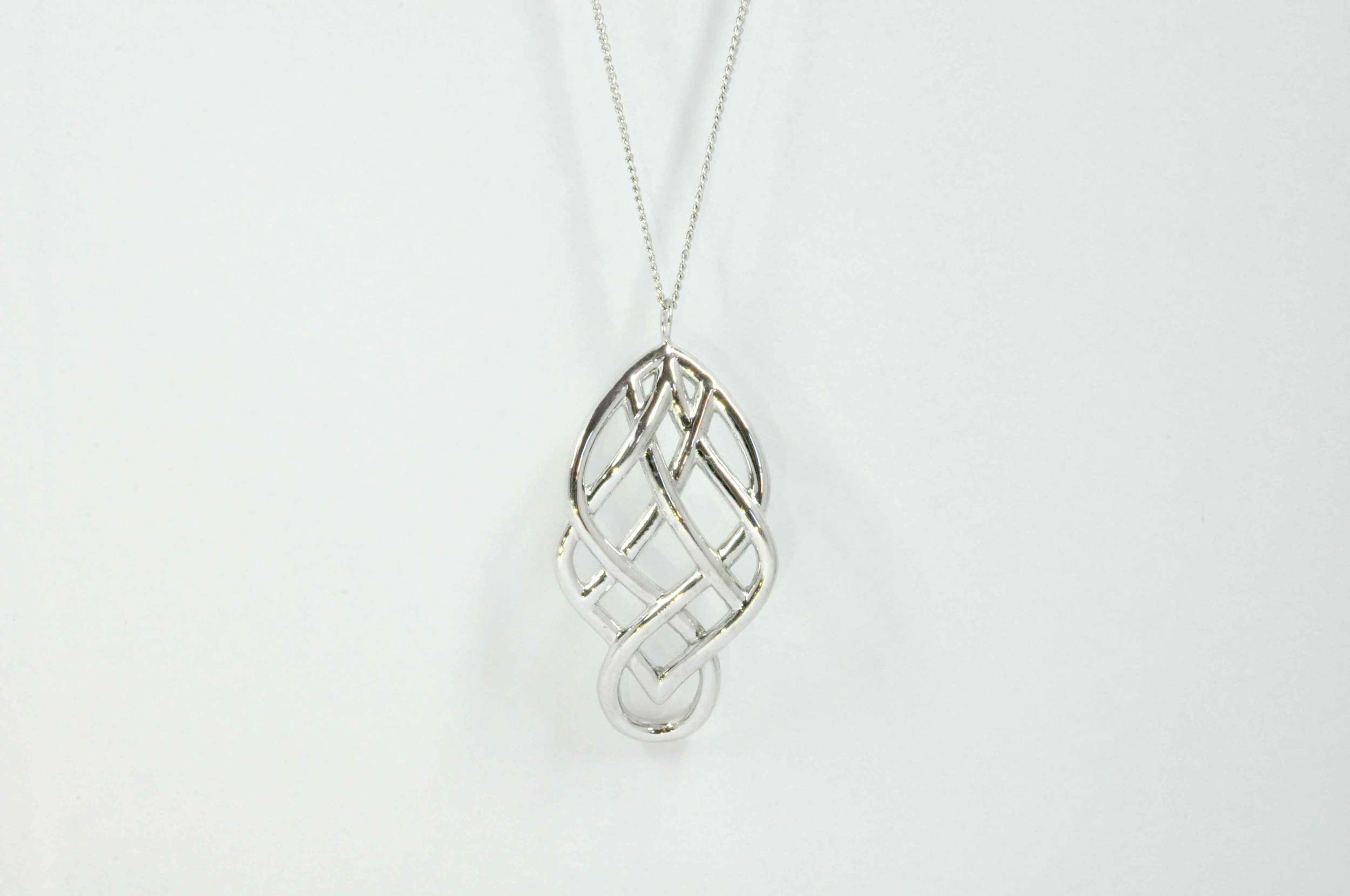 shape style necklace silver heart celtic braided pendant stone irish with a clear claddagh pin