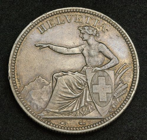Coins From Switzerland Helvetia 5 Swiss Francs Silver Coin Coin Collecting Coins Coin Art