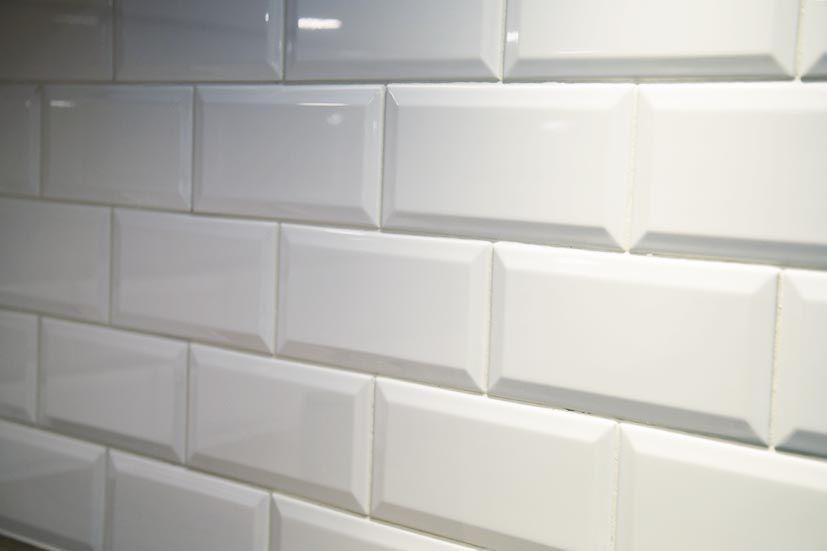 Kakel Vit Blank Fasad 10x20 Kok Vitt Kakel Kok Kakel Och