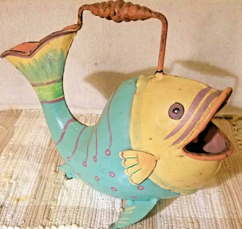 Global Amici Funky Fish Decorative Metal Watering Can | Fish and Metals