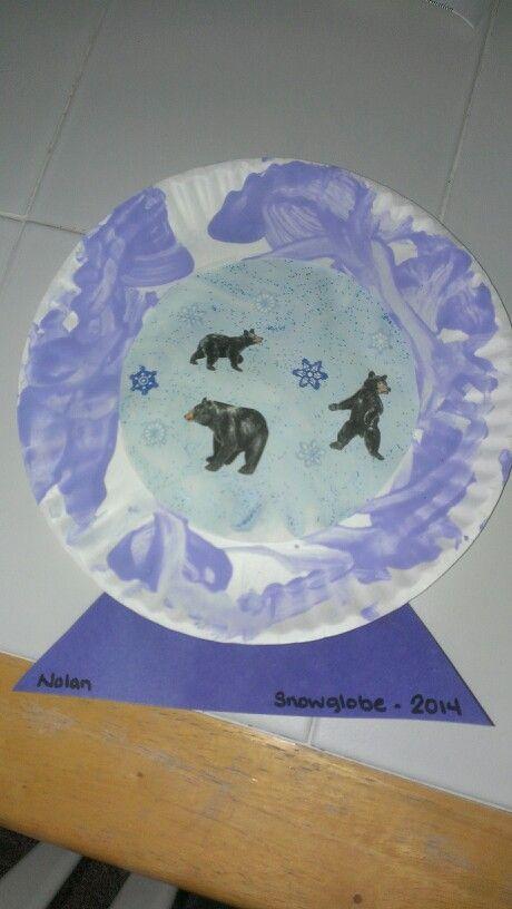 toddler winter craft snow globe my creations pinterest