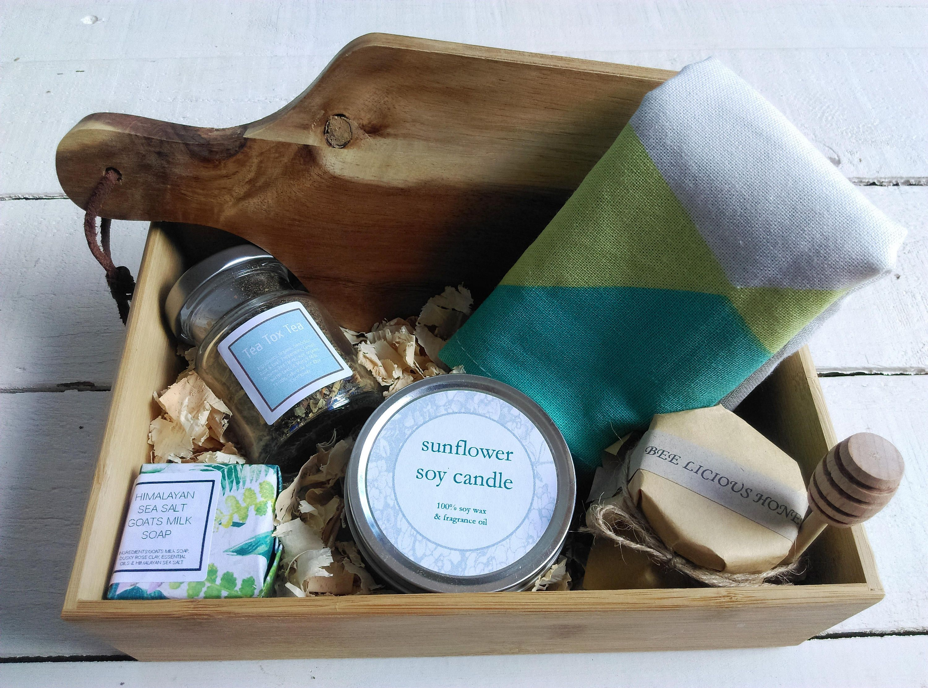 Housewarming Gift Box, Get well Gift Hamper, Pamper Gift Basket, Hamper Gift Set Box, by MYMIMISTAR on Etsy