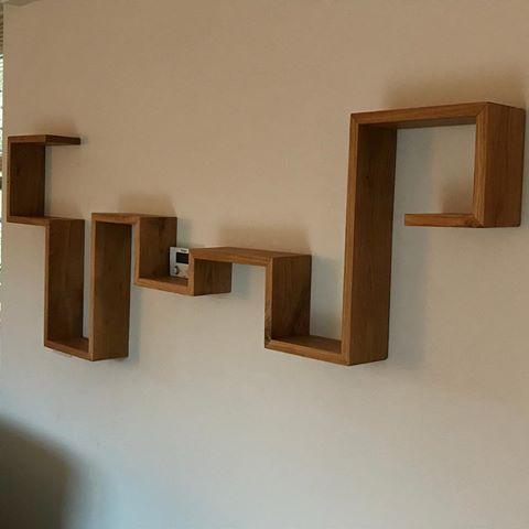 Boekenplank Met Boeken.Wandplank Eiken Oak Mondriaan Verstek Furniture