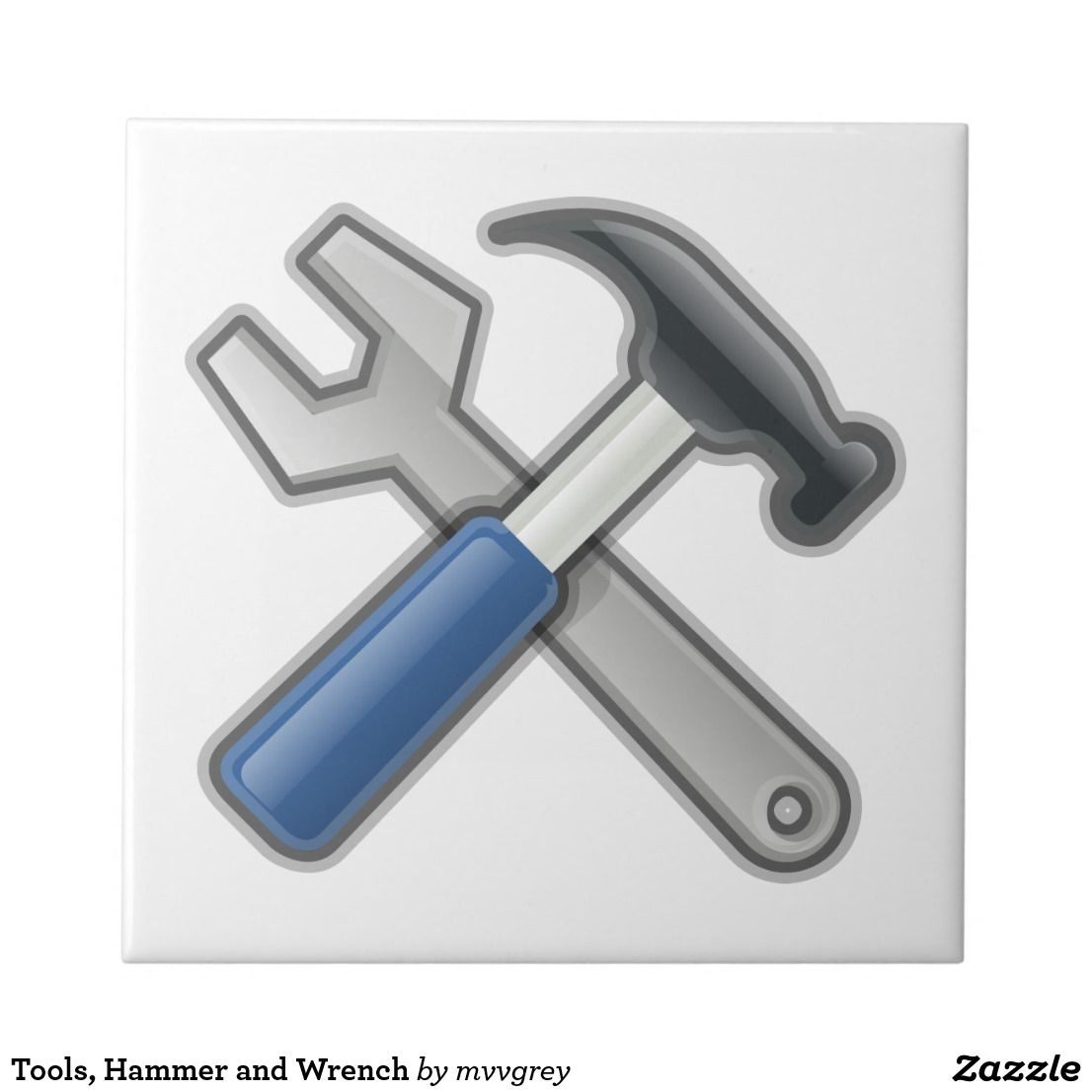 Tools Hammer And Wrench Tile