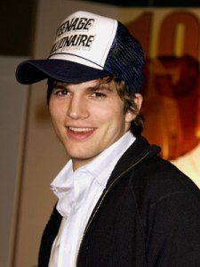 Image result for trucker cap on ashton kutcher
