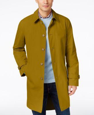 TOMMY HILFIGER Tommy Hilfiger Men's Finn Solid Raincoat. #tommyhilfiger #cloth # coats