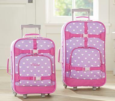 Mackenzie Lavender Hearts Luggage Pbkids Baby Furniture