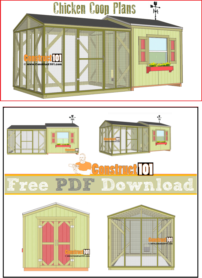 Large chicken coop plans pdf download large chicken for House plans with material list