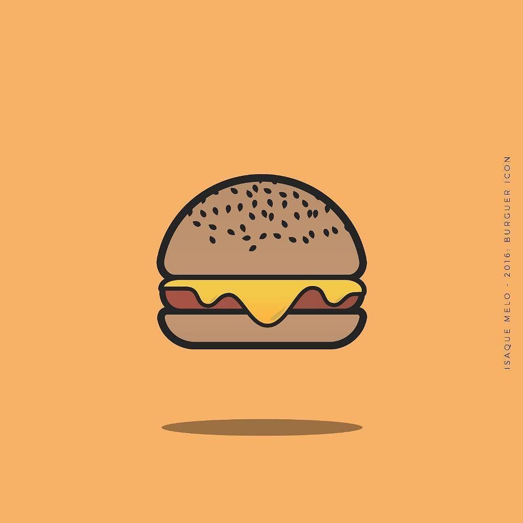 Burger Icon Icone Hamburguer Thksgod Blessed Graphicdesign