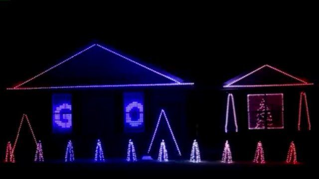 Christmas lights show set to 'Go Cubs Go' brings World Series ...