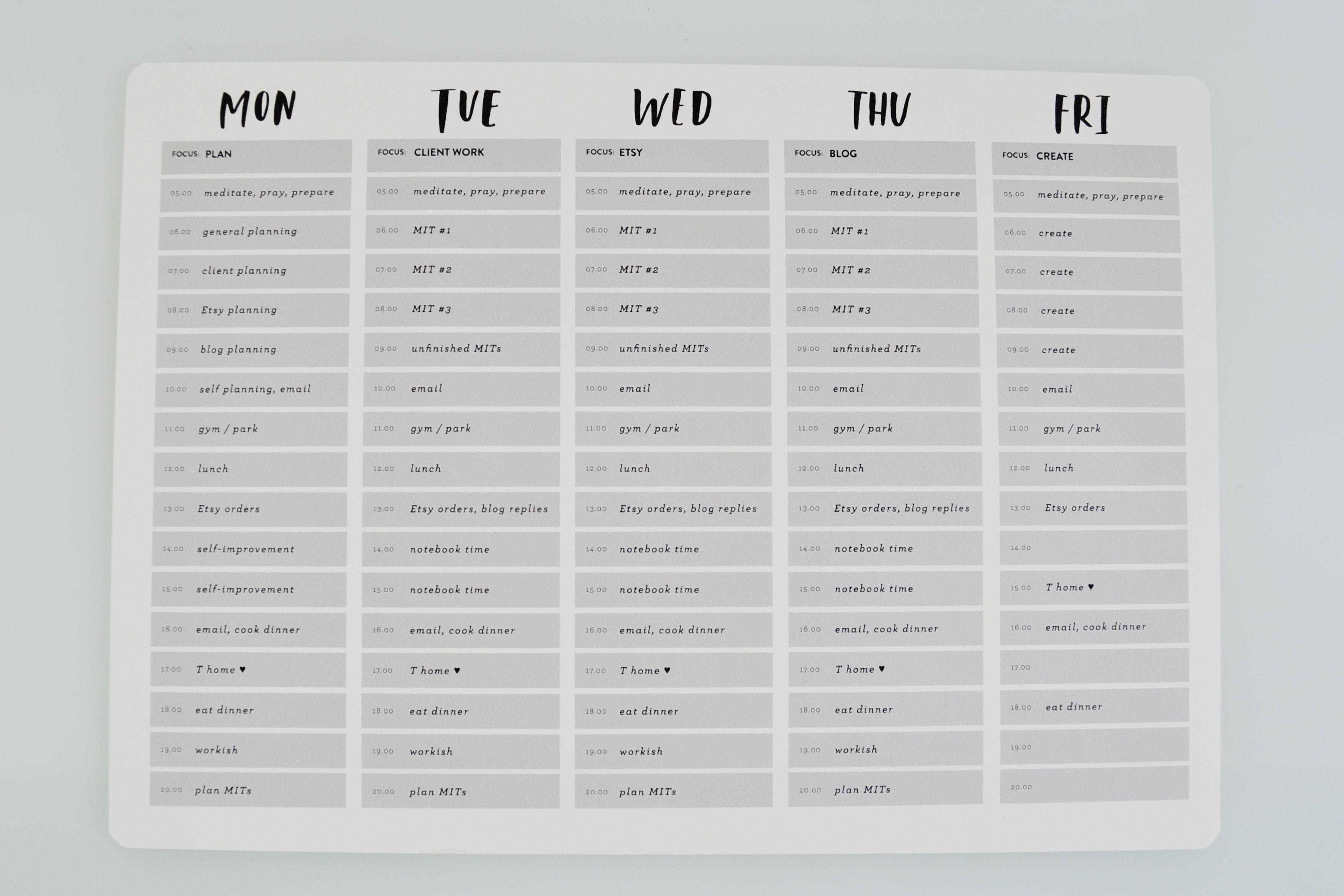 Block Scheduling ♥ Caylee Grey