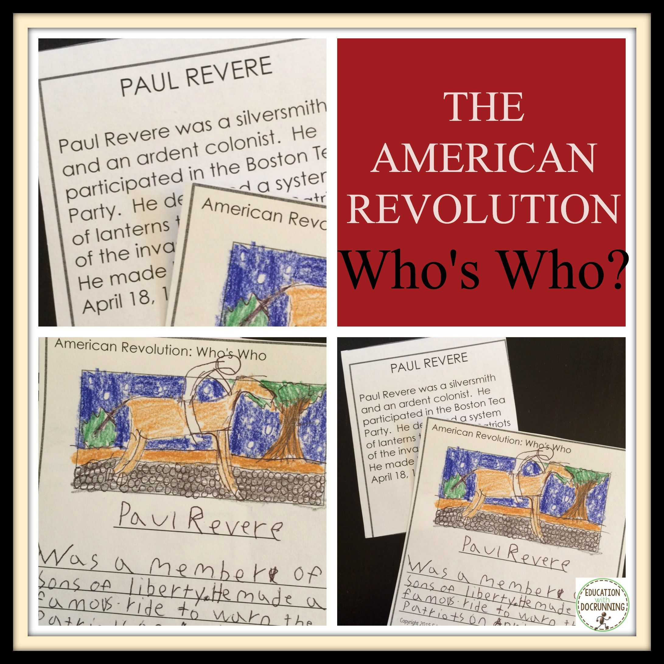 American Revolution Activity People Of The Revolutionary