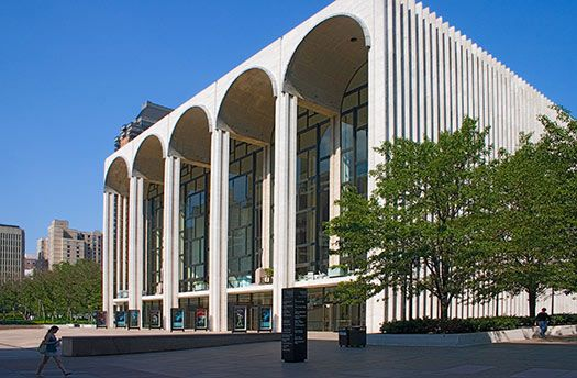 Philip Johnson Lincoln Center Nyc Ny Theater Architecture Architecture Images New York