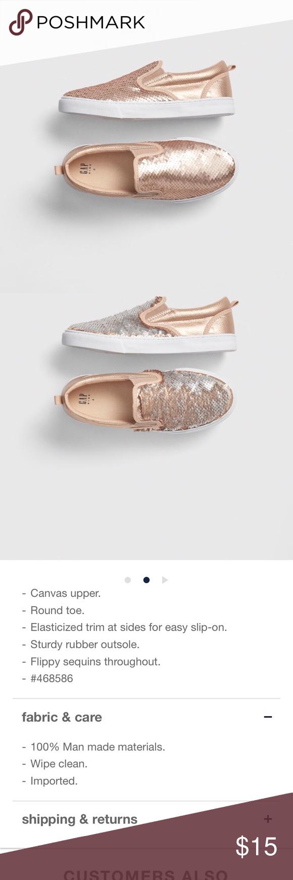 GapKids Sequin Sneakers | Rose gold