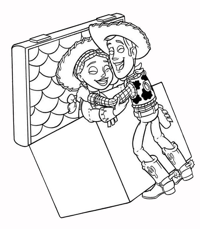 DISNEY COLORING PAGES: TOY STORY WOODY AND JESSE COLORING ...