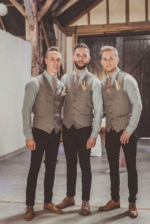 Country Style Groomsmen Attire Ideas | Wedding, Wedding and Princess ...