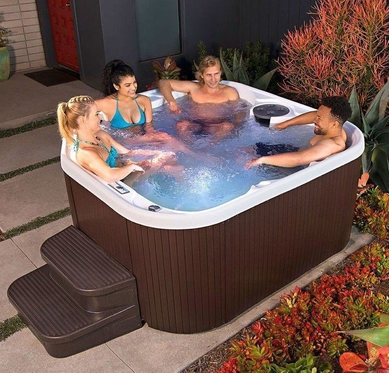 Outdoor Jacuzzi 5 Person 22 Jet Plug And Play Spa Bubble Massage