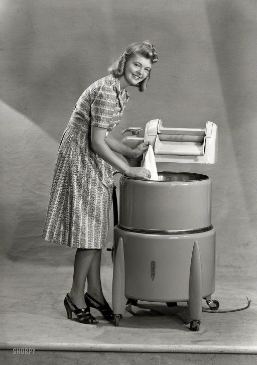 Image result for washing machines 1950s