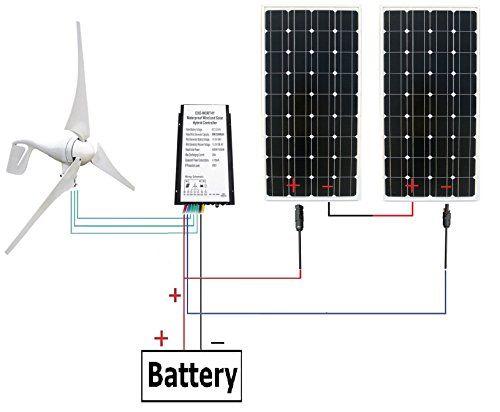 ECO-WORTHY 24 Volts 600 Watts Wind Solar Power: 12V/24V 4