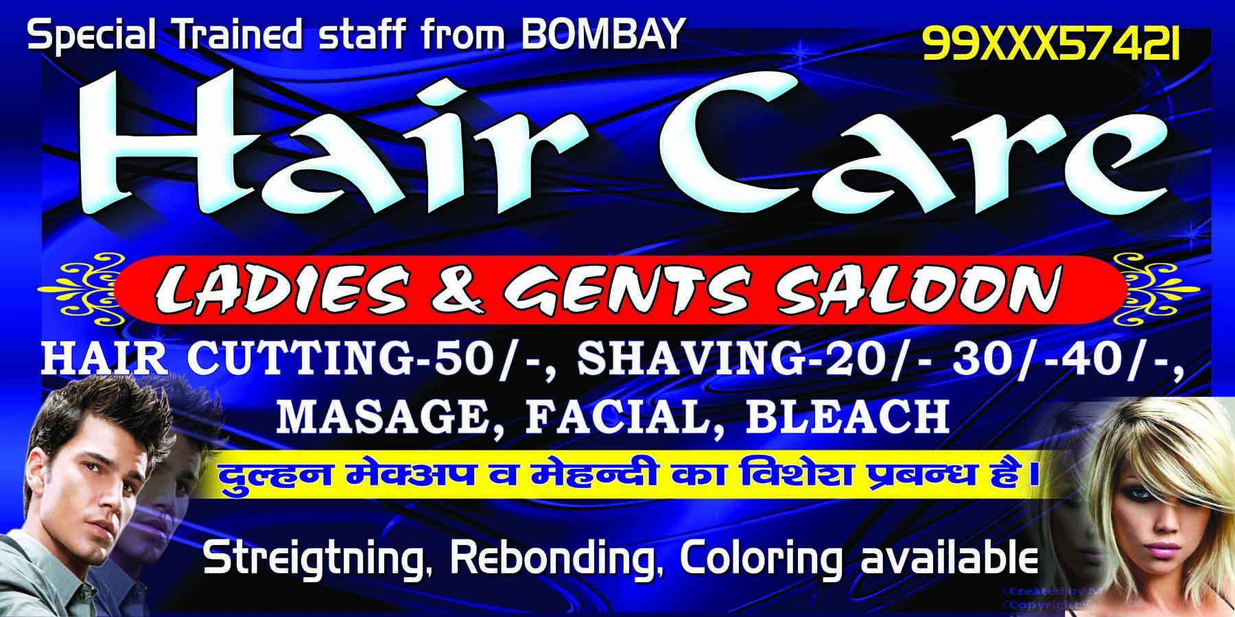 Hair Care Ladies And Gents Salon In 2020 Banner Design Banner Unisex Salon