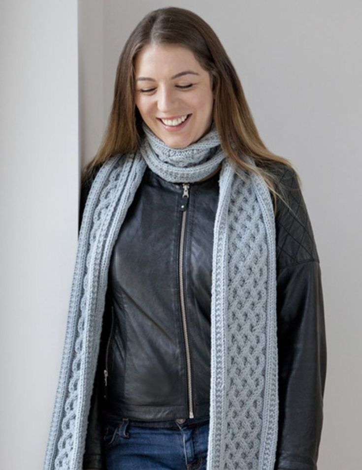 Cable Knit Chunky Yarn Scarf Knitting Pattern Free | Free scarf ...