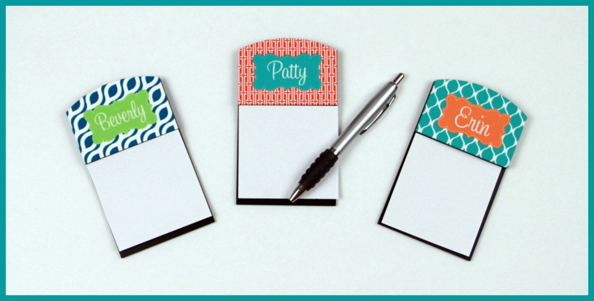 Personalized Sticky Note Holder Gifts