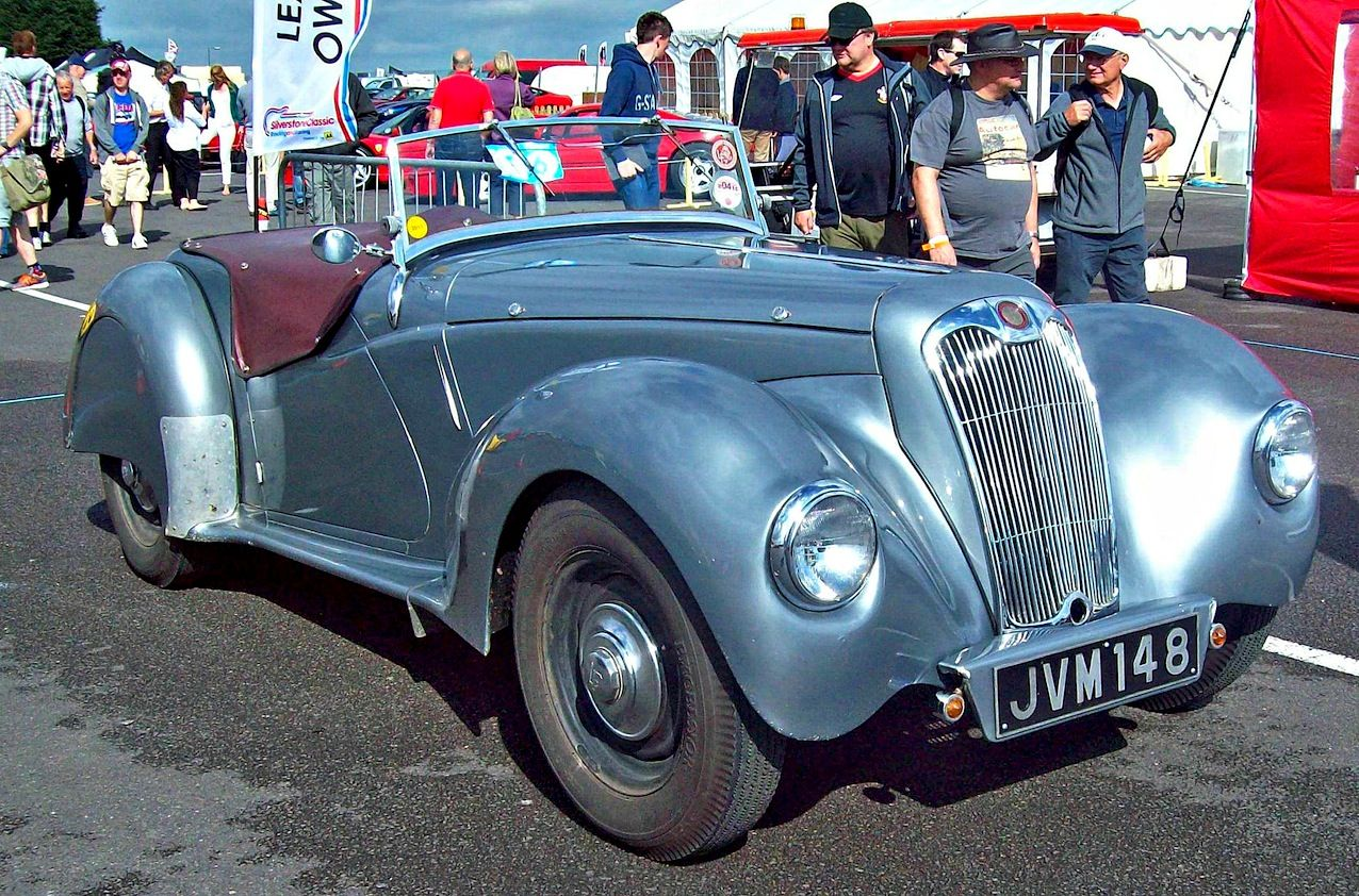 Very Rare 1948 Lee-Francis 14HP Sports. 1767cc 4-cylinder OHV engine. Image by Robert Knight