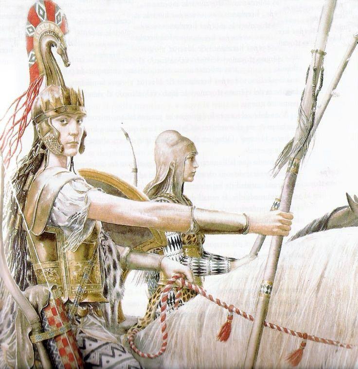 Alan Lee - The Amazon queen Penthesilea  Tags: trojan war