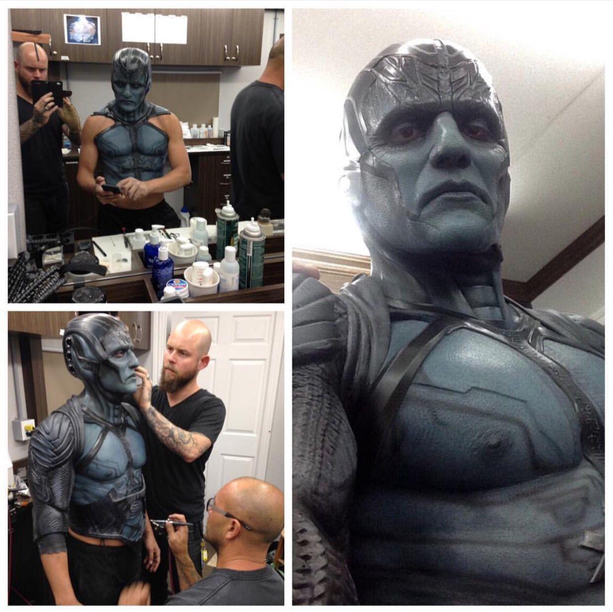 Special Fx Makeup Work Done On Oscar Isaac For X Men Apocalypse Briansipemakeup Instagram Oscar Isaac Marvel Villains X Men Apocalypse