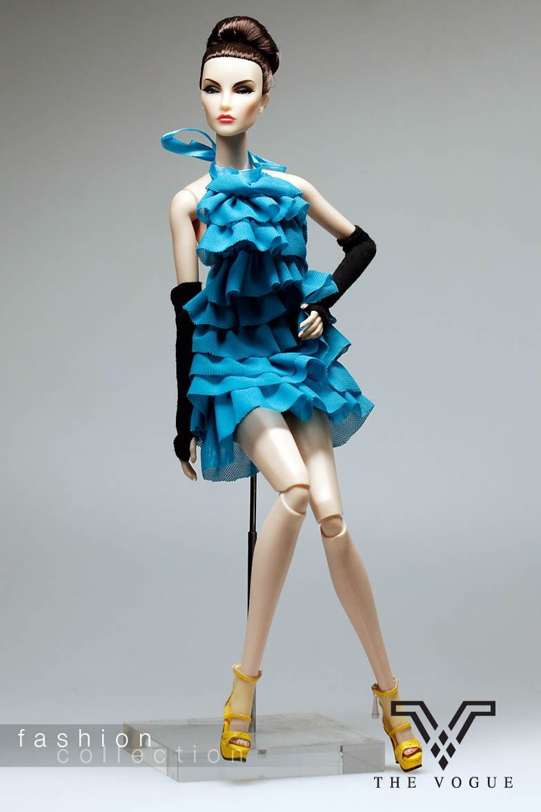 Blue Designer Lace Fashion Party Dres for FR Barbie Silkstone R2 ...