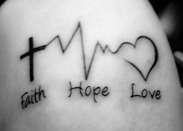 Faith hope love tattoo ink redible pinterest tattoo for Faith hope love tattoo meaning