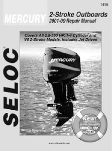 Mercury Mariner Outboards 2 5-250 HP,Seloc Marine Tune-Up Manuals