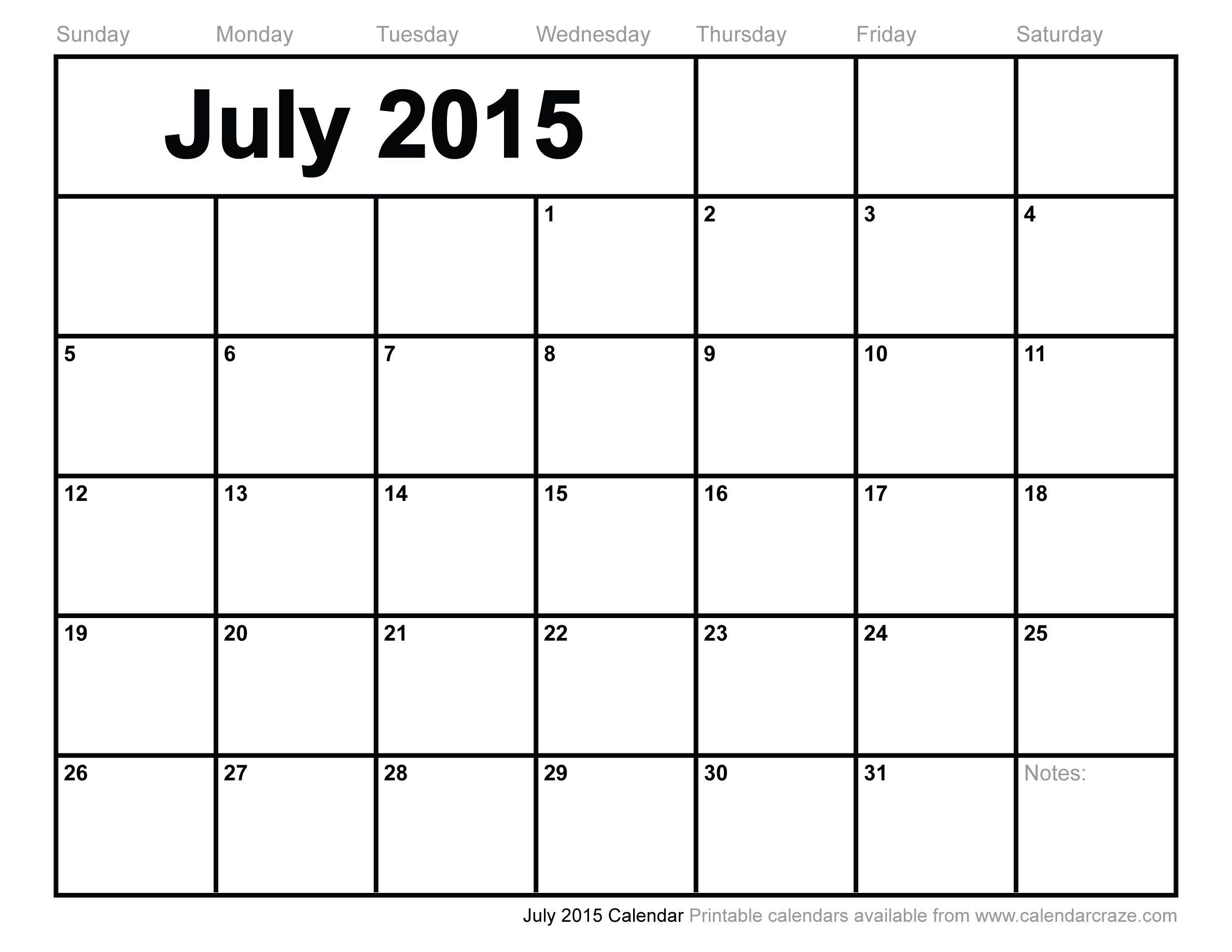 2015 July Calendar Pdf Google Search August Calendar Monthly