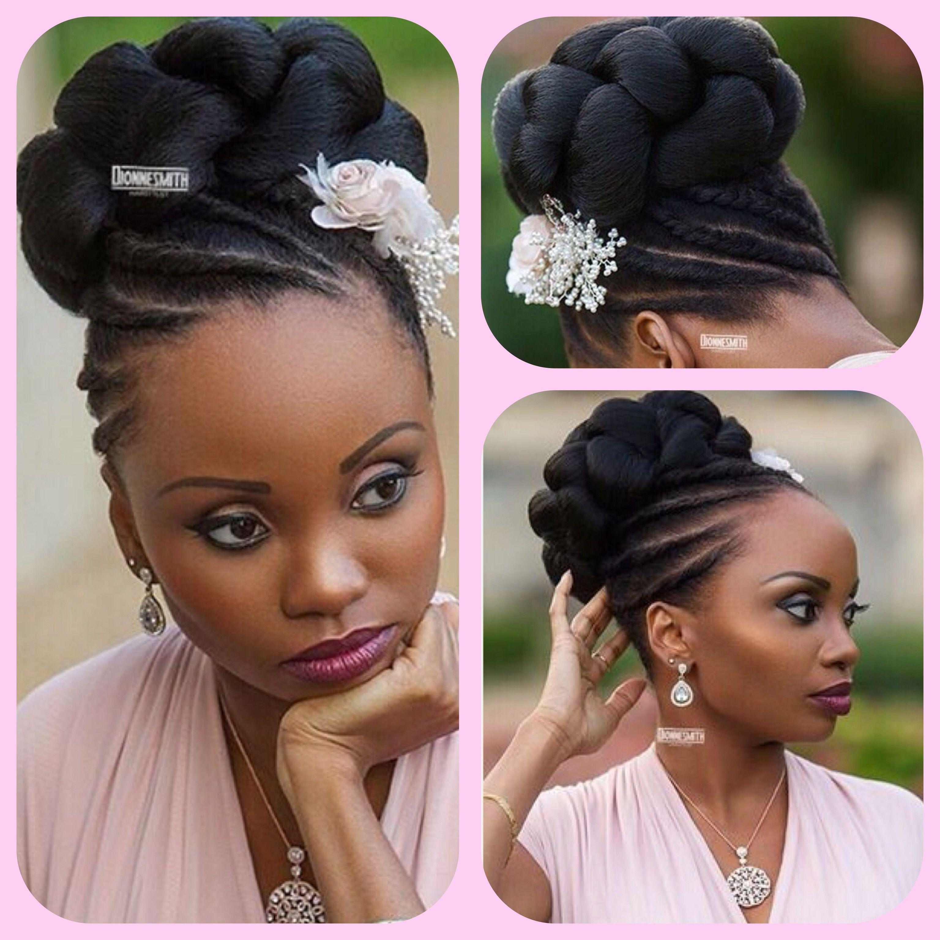 Wedding Hair Style Natural Hair Updo Wedding Natural Hair Updo