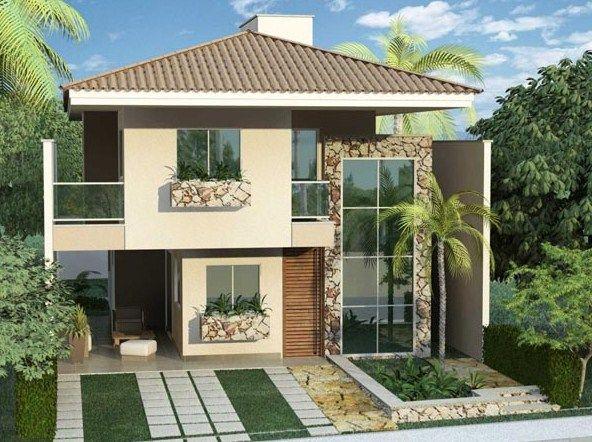 Fachadas de casas con garage pasante fachadas casa for Duplex con garage