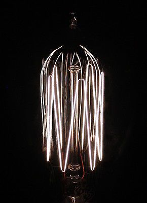 Antique Vintage GE Mazda Tipped Ductile Tungsten Cage Filament Lamp Light Bulb C
