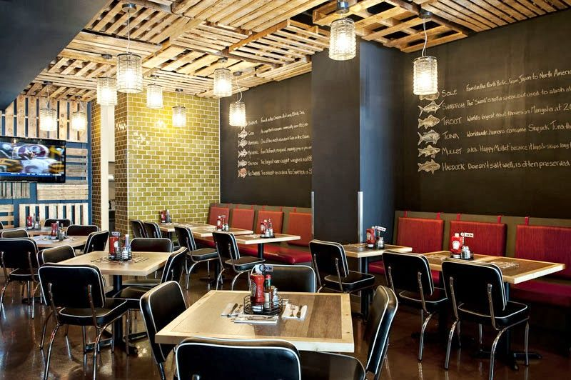 The Fish Shack Vancouver- Restaurant Design Restaurant design - innovatives decken design restaurant