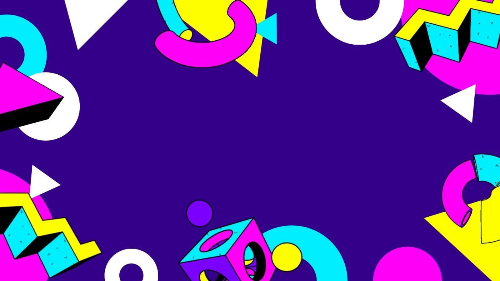 Colorful 90s Geometric Shapes Zoom Virtual Background Background Work Friends Your Sky
