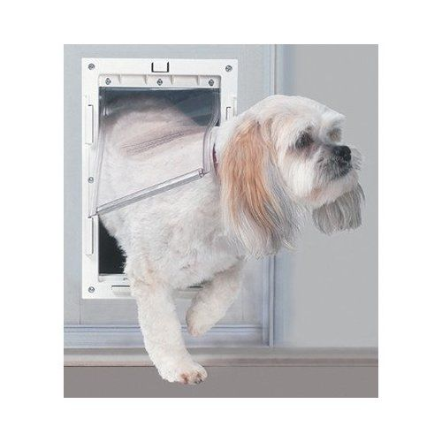 Ideal Pet Products Fast Fit Patio Door For Pets Medium White Dog