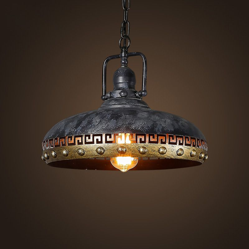 Retro Pendant Lights Bar Kitchen Loft Style Hanging Lamps Lamp Shade Hanging Lighting Grey Industrial Lighting Fixtures E27 D129 Retro Pendant Lights Industrial Light Fixtures Bar Lighting