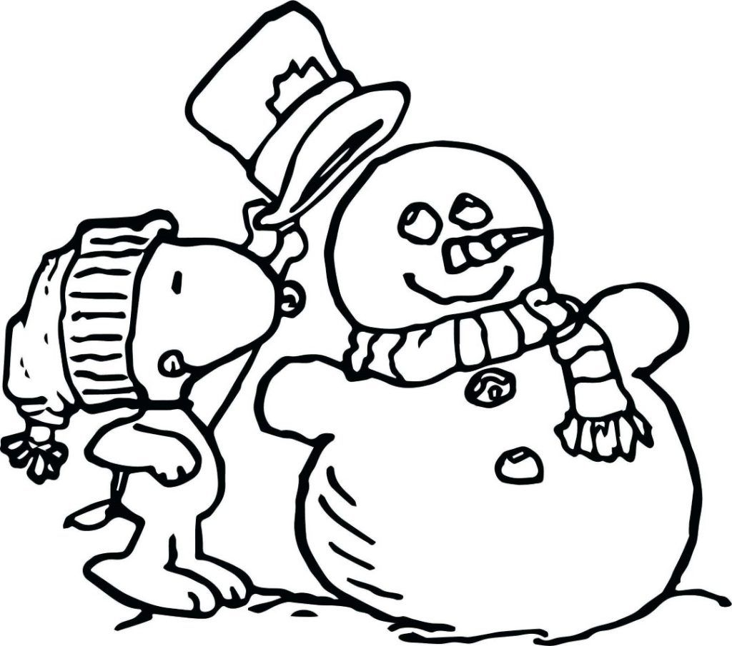 Snoopy And Woodstock Christmas Coloring Pages | Hakume Colors