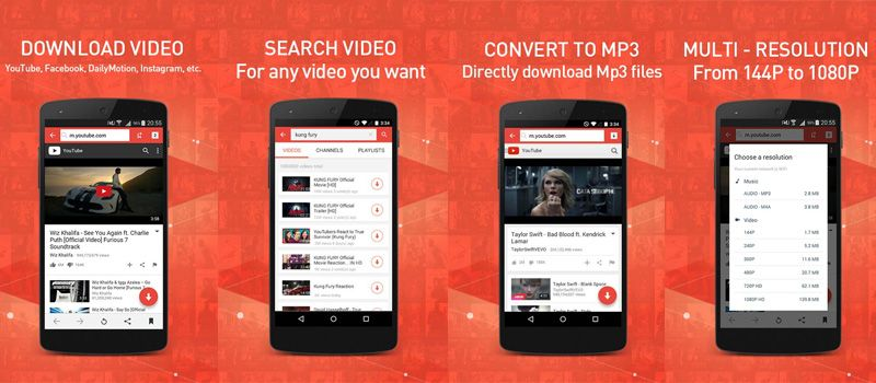 Videoder is an android application to download videos from several online streaming  websites. By browsing