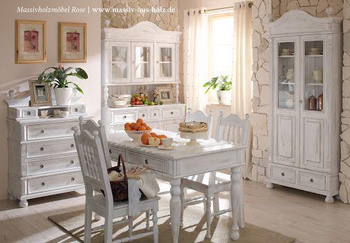Weiß macht die #Massivholzmöbel aus #Kiefer leicht und - küche kiefer massiv