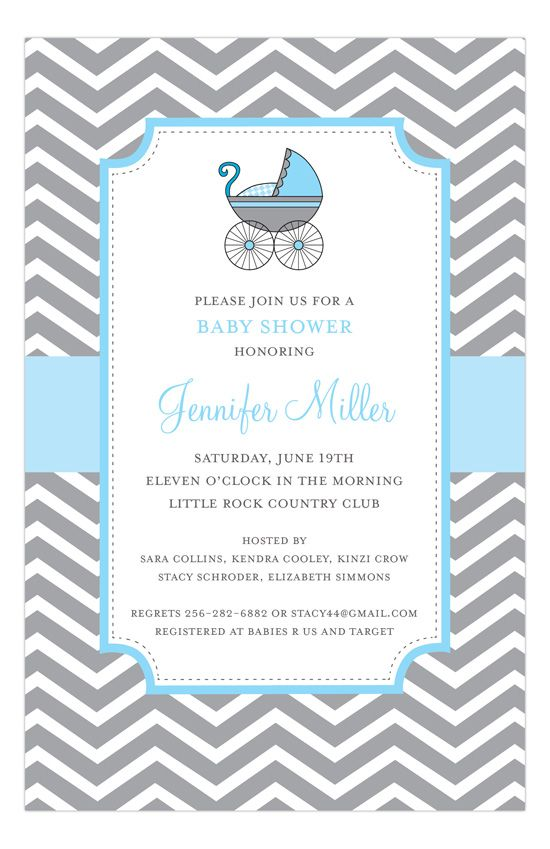 San Lori Invitations Blue Strolling Invitation Polka Dot Design