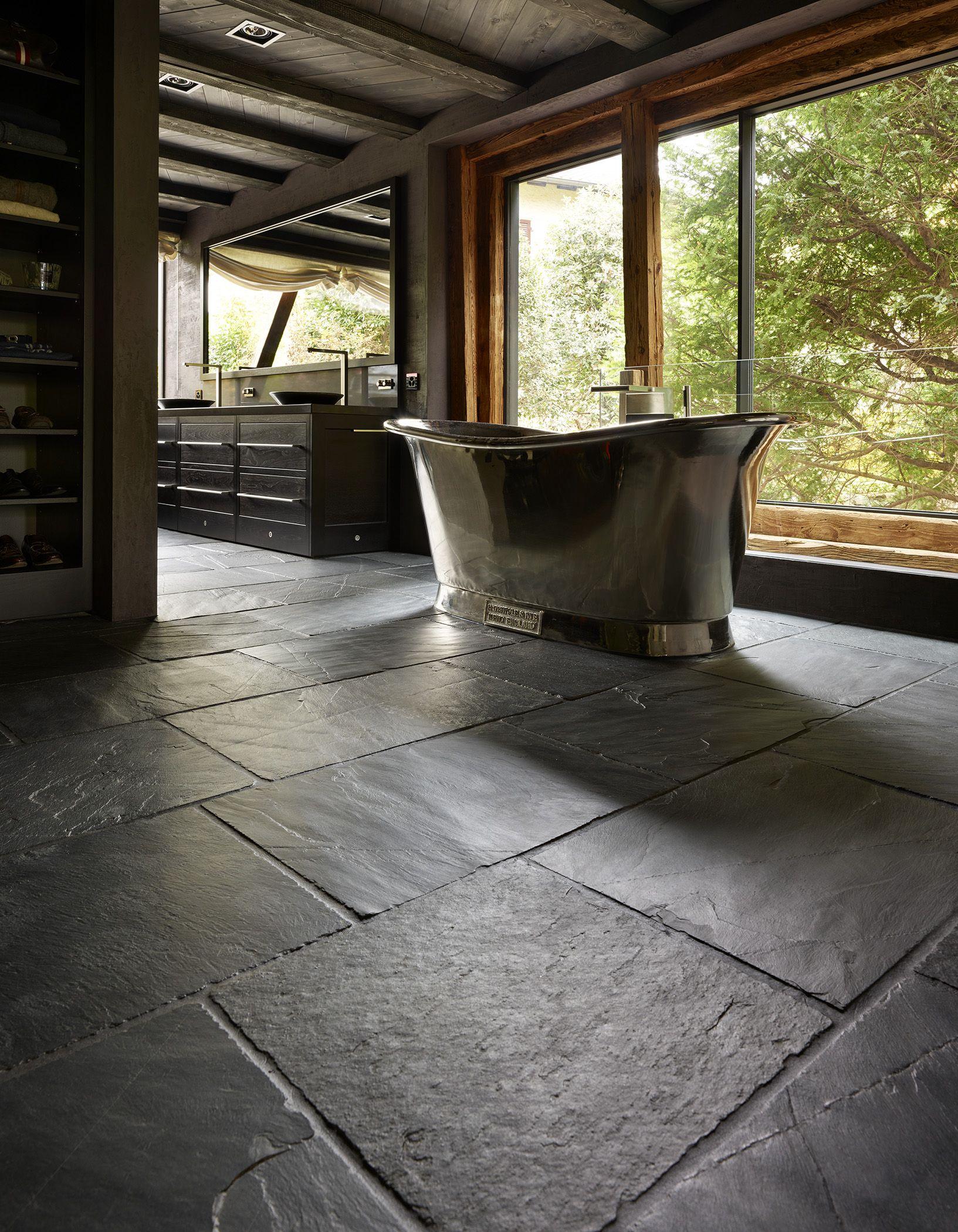 Rustic Black Slate Bathroom Floors Pinterest