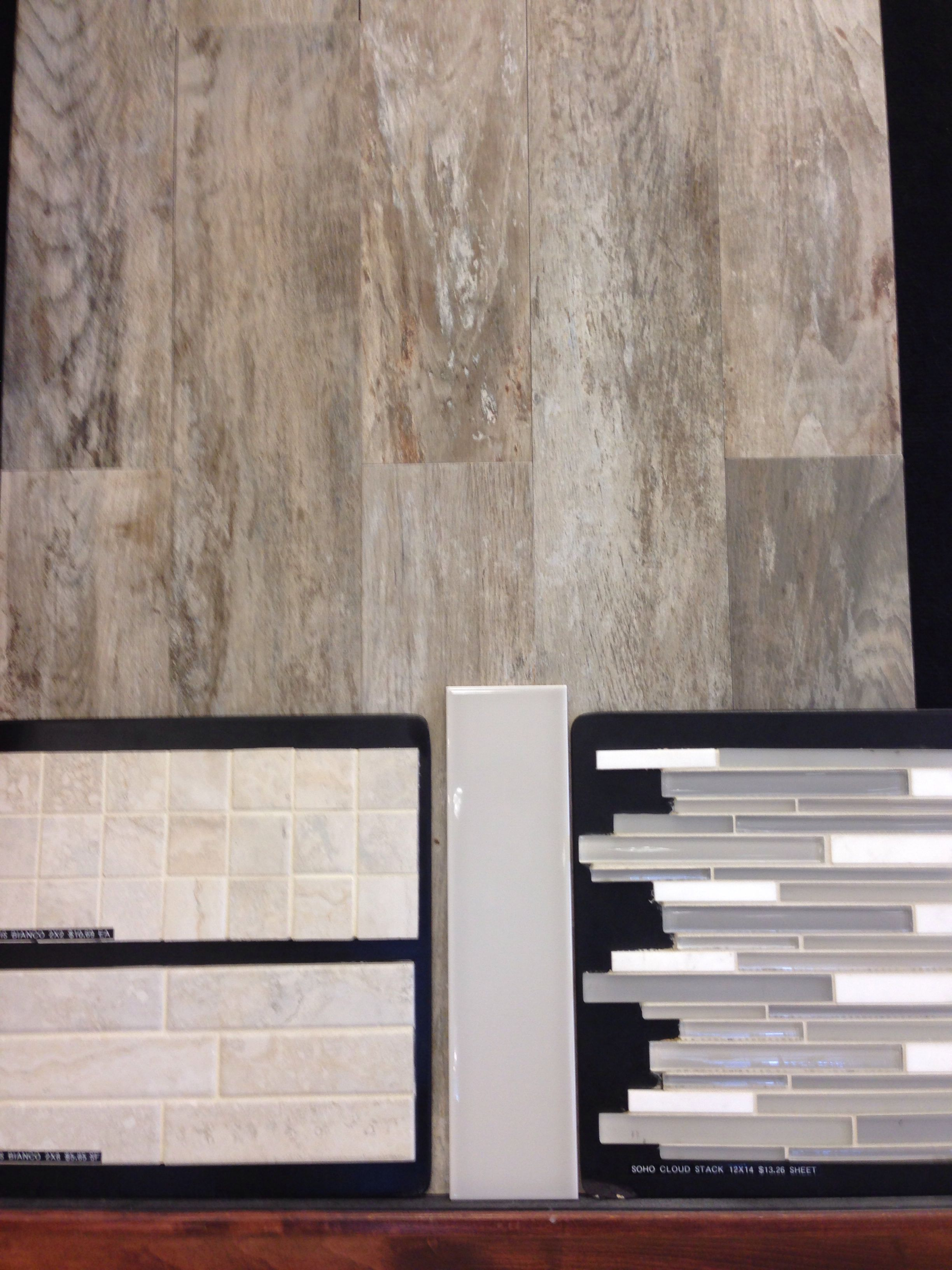 Master Bathroom Alternate Arizona Tile Floor Club Grey 6x24 561