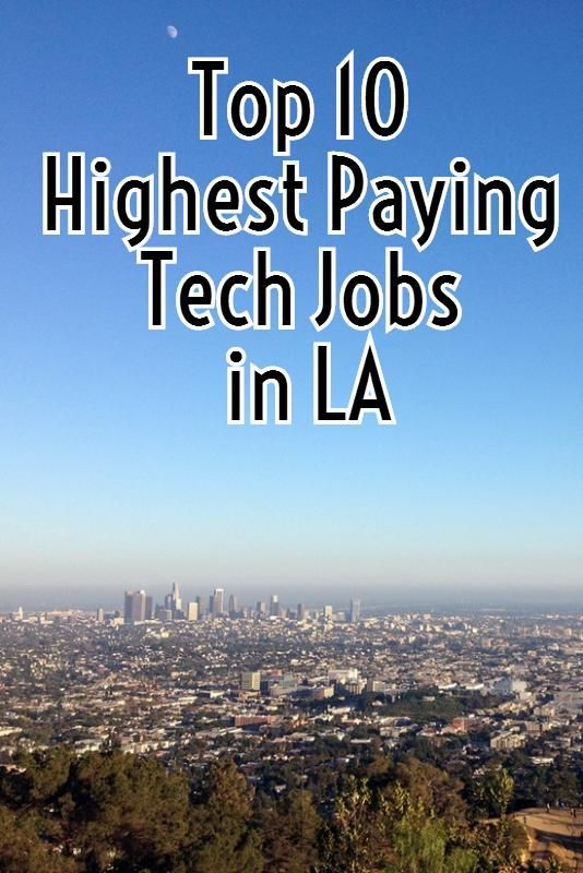 Top 10 Highest Paying Tech Jobs In Los Angeles Role Of Social Media Tech Job Career Options