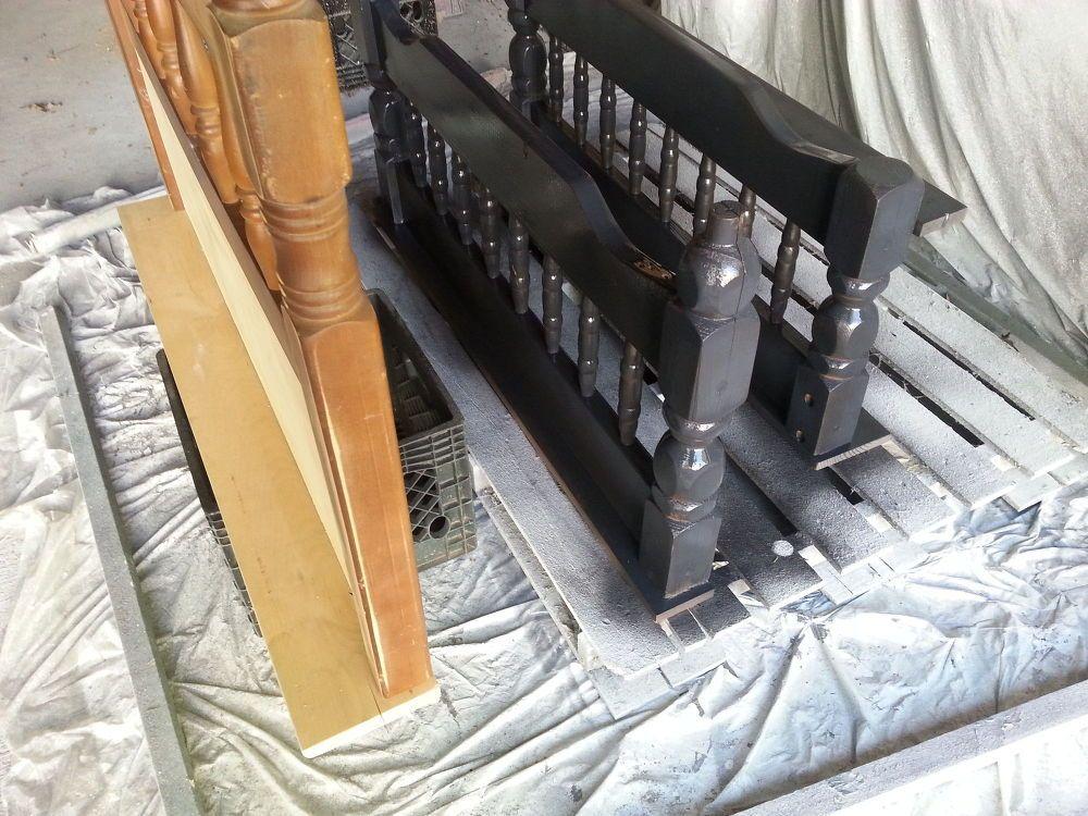 Repurposed Bunk Bed Coat Rack Shelf Coat rack shelf