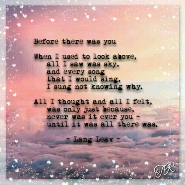 Before there was you by Lang Leav