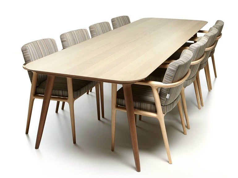 Mesa retangular de carvalho ZIO DINING TABLE by Moooi© design Marcel Wanders